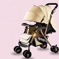 Assento de Carro Do Bebê de alta Qualidade Ampliar Alta Paisagem Carrinho de Bebê Dobrável Portátil Pode Sentar Mentindo À Prova de Choque Carrinhos e Carrinhos de bebé