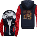 Novelty Design AC DC Bell Skull Mens Hoodies I Got My Bell Gonna Take Ya To Hell Thicken Ziipper Tops USA EU size Plus size