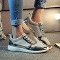 Женская Обувь 2016 Весна Новая Мода Повседневная Лоскутная Узелок Дышащей Обуви Для Женщин Женщины Дамы Холст Плюс Размер 36-41