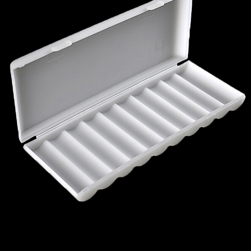1PC 10X18650 Battery Holder Case 18650 Storage Box Holder White Hard Case Cover Battery Holder Organizer Container