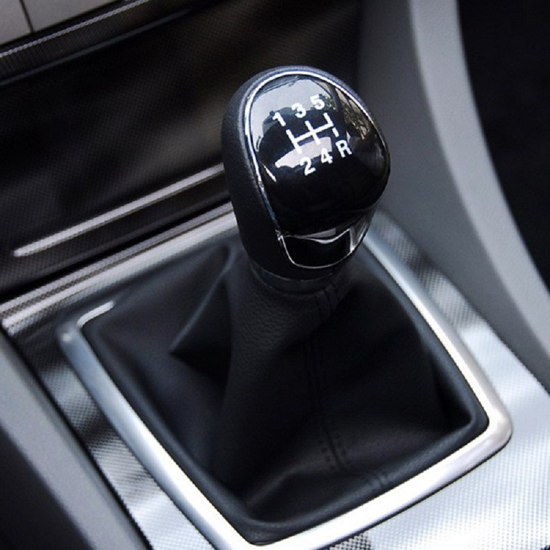 Silver Black Gear Shift Knob 5 Gear 6 Speed Manual For Ford Focus 2 MK2 FL MK3 MK4 MK7 MONDEO KUGA GALAXY FIESTA Car Styling image