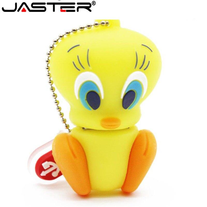 Hot Selling Cartoon Usb Flash Drive 4gb 8gb Cute Little Yellow Duck Tweety Pendrive 16gb 32gb Usb 2.0 Memoria Usb Kids Gifts