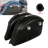 Saddle Bag Electronic Latch Concert Audio Saddlebag Lid For Indian Roadmaster Chieftain 2014 2018 Dark Horse Gloss/Matte Black