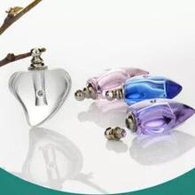 Разноцветные Милые флакончики для духов с кристаллами сердца флаконы с парфюмированным маслом формирование микрорельфа имени на рисе флакон подарок
