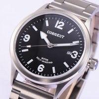 Corgeut 41mm saphirglas Automatik miyota bewegung Datum Tag herrenuhr-in Mechanische Uhren aus Uhren bei
