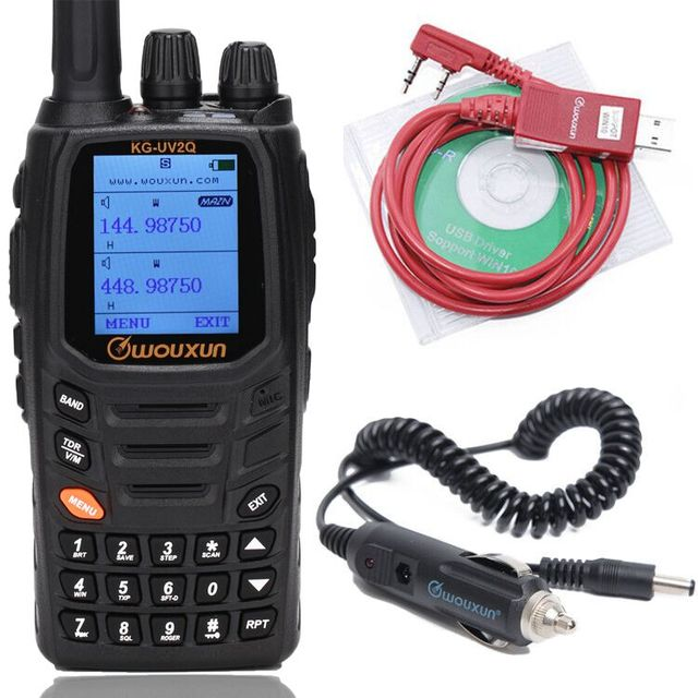 Wouxun KG UV2Q 8W High Power 7 bands Including Air Band Cross band Repeater Walkie Talkie Upgrade KG UV9D Plus Ham Radio