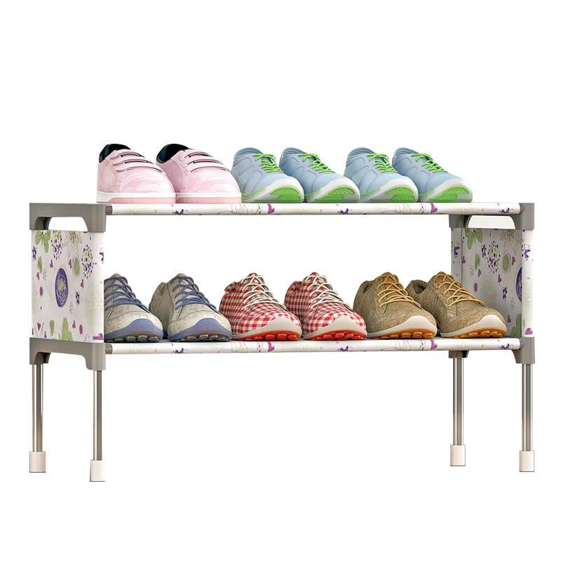 2 Layer Shoe Racks Shoe Organizer Stand Holder Cabinet Organizer Space Saving Shoe Cabinet Shelves Home Furniture Living Room аксессуар чехол interstep leather для apple ipad air black lily 33395