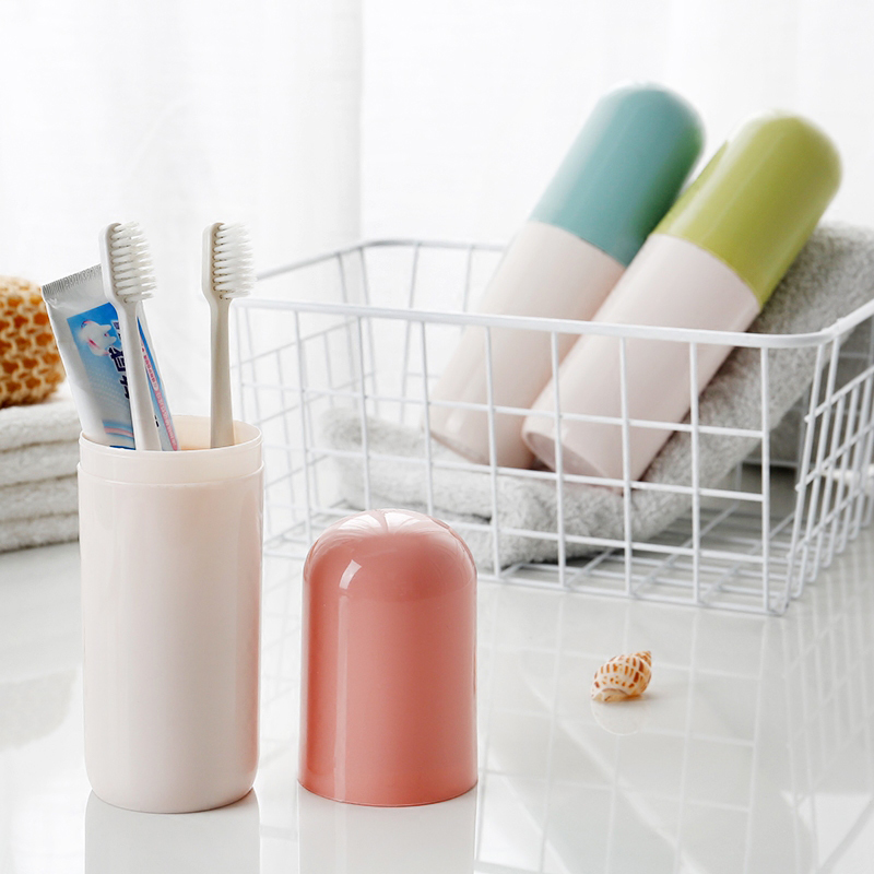 Travel Products Toothbrush Toothpaste Storage Box Portable Toothbrush Wash Cup Creative Color Matching