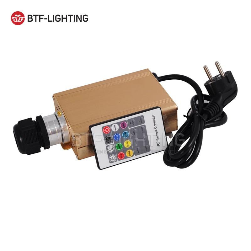 RGB 16W LED Fiber Optic Engine Driver Golden Case with 20key RF Remote Controller For All Kinds Fiber Optics tle6251g tle6251 2g