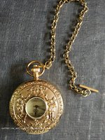 Rare Old Qing Dynasty royal clock \ mechanical watch,angel,can work, Gold watch ,free shipping