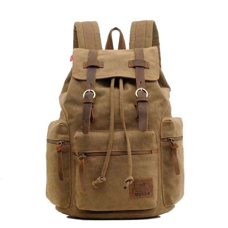 2018 neue Outdoor herren Rucksack Vintage Leinwand Rucksack Schule Tasche männer Reisetaschen Große Kapazität Reise Rucksack Tasche