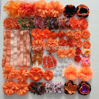 Hair Flower Accessories Halloween Flower Black Orange For DIY Hair Flower Headband