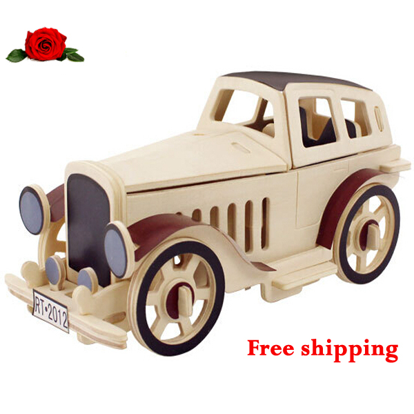 Children S Wooden Toys 3d Puzzle For Fun Simple Assembling Cars