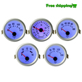 "Universal 2"" 52mm Car PSI Boost Turbo,Water temp,Oil Temp,Oil pressure,Voltmeter Gauge/Meter with sensor Blue light For 12V Car"
