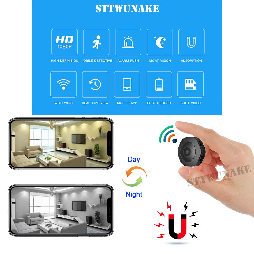 STTWUNAKE mini IP camera 1080P HD wifi DV micro cam Night Vision Wireless Small Car Camcorder