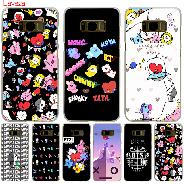 size 40 9ce95 c77a7 US $1.99 23% OFF|Lavaza BTS BT21 Hard Phone Case for Samsung Galaxy S8 S9  S10 Plus S10e Cover S6 S7 Edge Cases-in Half-wrapped Case from Cellphones &  ...
