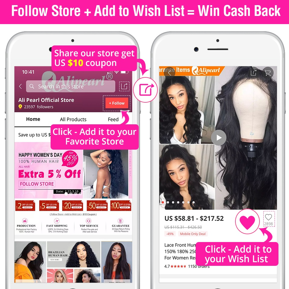 Alipearl Hair 3 Bundles Brazilian Deep Wave 100% Human Hair Bundles With Frontal Natural Black Remy Hair Extension Free Shipping 3/4 Bundles With Closure Hair Extensions & Wigs