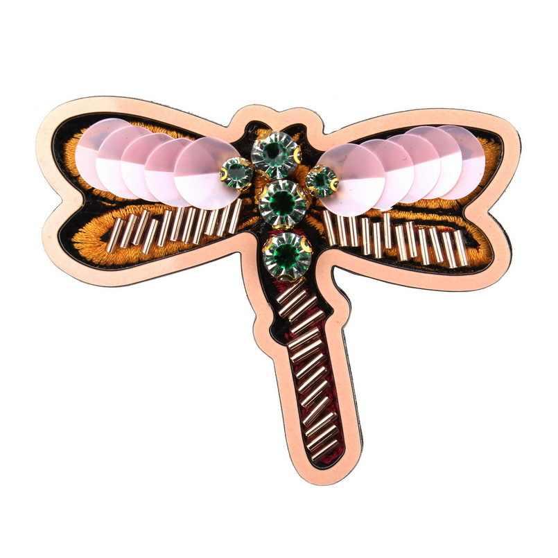 Fashion Baru Kaca Kristal Rhinestone Dragonfly Serangga Pin Bros untuk Wanita Florate Merek Batu Vintage Bros Hadiah Natal