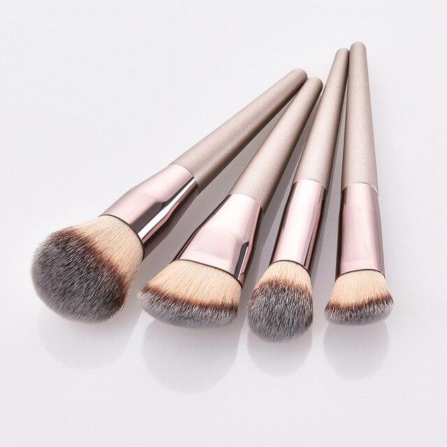 4pcs Makeup Brush Set Foundation Powder Blush Blusher Blending Concealer Contour Highligh Highlighter Face Beauty Make Up Tool 1