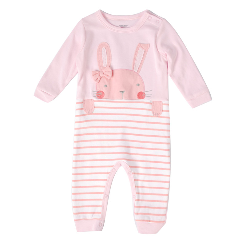 100% Cotton Baby Boy Clothes Newborn Baby Girl Rompers for 6 to 24 Months Cute Rabbit Jumpsuit Clothing Romper Set Drop Shipping newborn baby boy girl 5 pcs clothing set cotton cartoon monk tops pants bib hats infant clothes 0 3 months hight quality