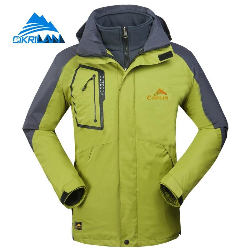 Фотография 3in1 Waterproof Winter Outdoor Camping Hiking Jacket Men Windbreaker Warm Fleece Liner Coat Snowboard Skiing Jaqueta Masculina