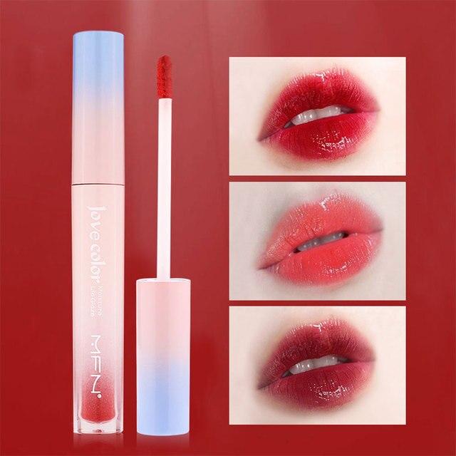 Lip Tint Makeup Matte Liquid Lipstick Mirror Lip Gloss Glitter Waterproof Lip Stick Long Lasting Sexy Red Lip Tint Korean Cosmet 1
