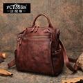 Herbst Neueste Rucksack Frauen Schulter Taschen 2019 Handgemachte Vintage Echtem Leder Schule Freizeit Tasche Männer Notebook Rucksack Tasche