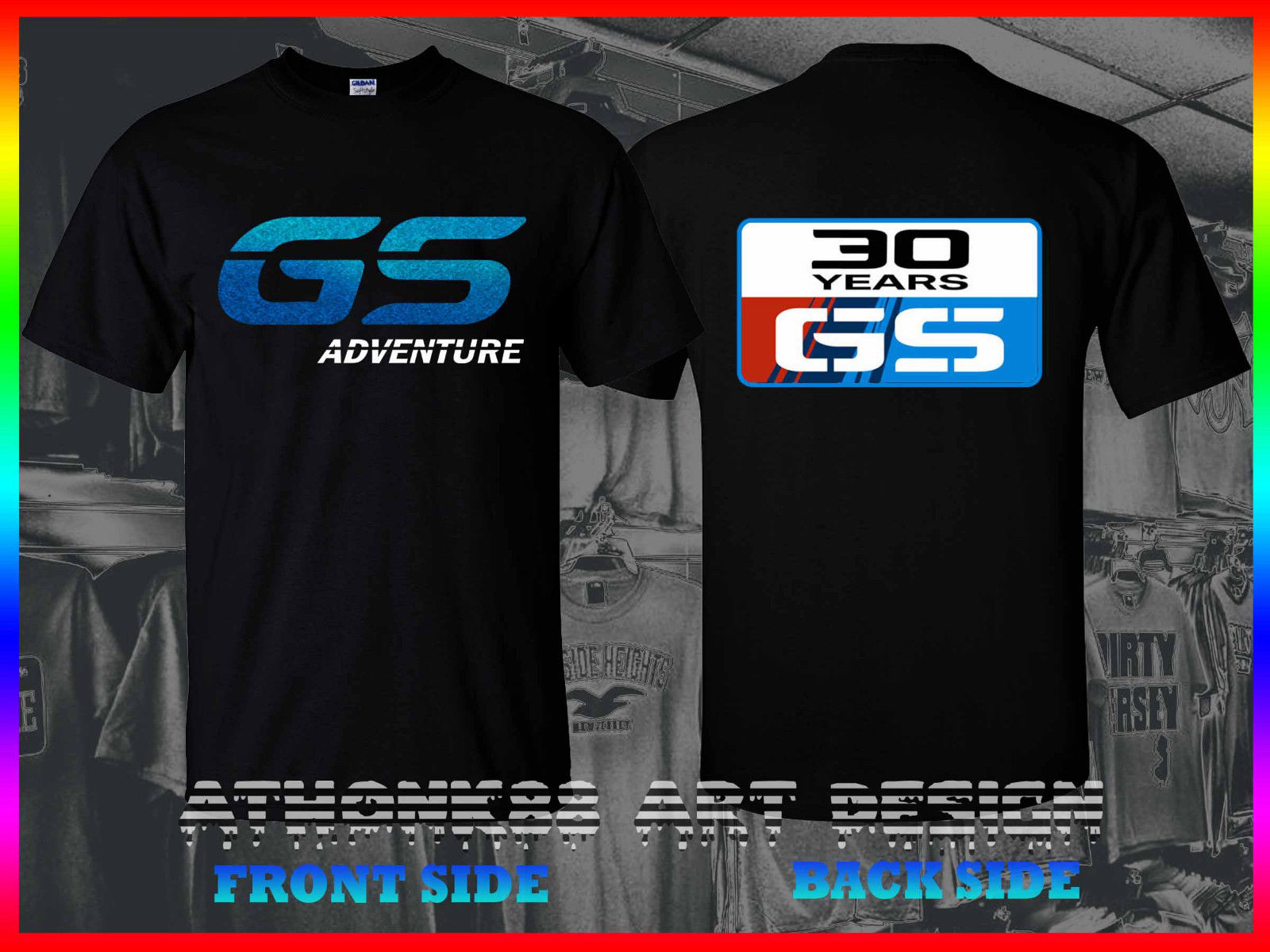 2018 New Casual Cool Tee Shirt RARE Germany Motorcycles GS ADVENTURE 30 YEARS R1200GS ONE GS TEE SHIRT Hot Sale T-shirt