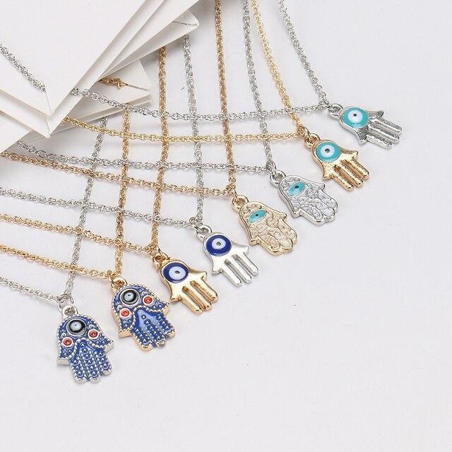 Bijoux Femme Hamsa main-  avec carte de souhait or, argent ou couleur