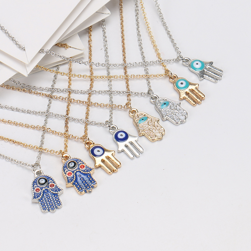 Zircon Blue Hamsa Hamesh Hand 925 Sterling Silver Bead Fits European Brand Charms