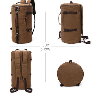 Image 2 - Scione męski plecak podróżny mężczyzna płótno bagażu Duffel torba Cylinder plecak górski dla mężczyzn duża pojemność Mochila