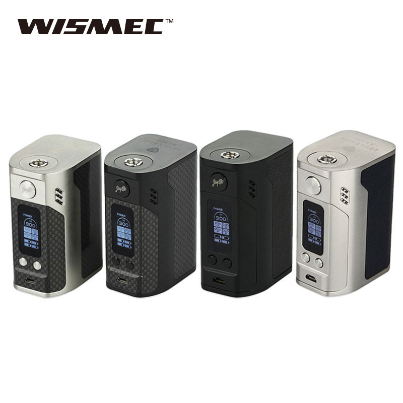 Original WISMEC Reuleaux RX300 TC Mod 300W Rx300 Box Mod Powered By 4 18650 Batteries E