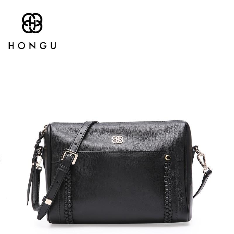 Hongu Light Luxury Genuine Leather women Fashion messenger bags lady Exclusive Weave flap crossbody shoulder bag designer louis