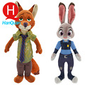 1 pc 33cm Zootopia Plush Toy Rabbit Judy Hopps Fox Nick Wilde Police Women Cute Soft Doll For Children Animal Toys