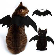 Ali di pipistrello Vampiro Nero Sveglio Fancy Dress Up Halloween Pet Dog Cat Costume(China)