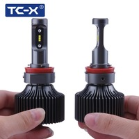 TC X 2 PCS H11 9006 9005 LED Car Headlights High Beam Foglights Fanless 6000K White