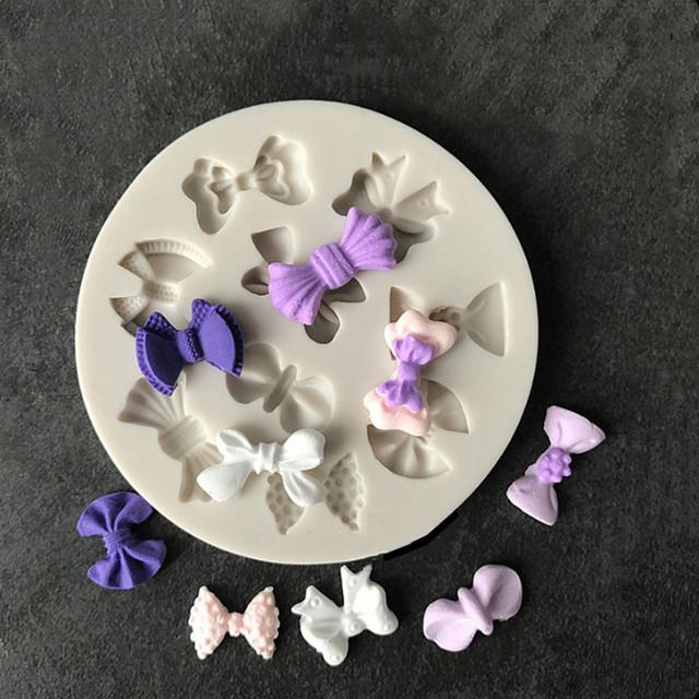 Aouke Exquisite bow silicone mold DIY fondant cake mold chocolate fudge mold baking utensils
