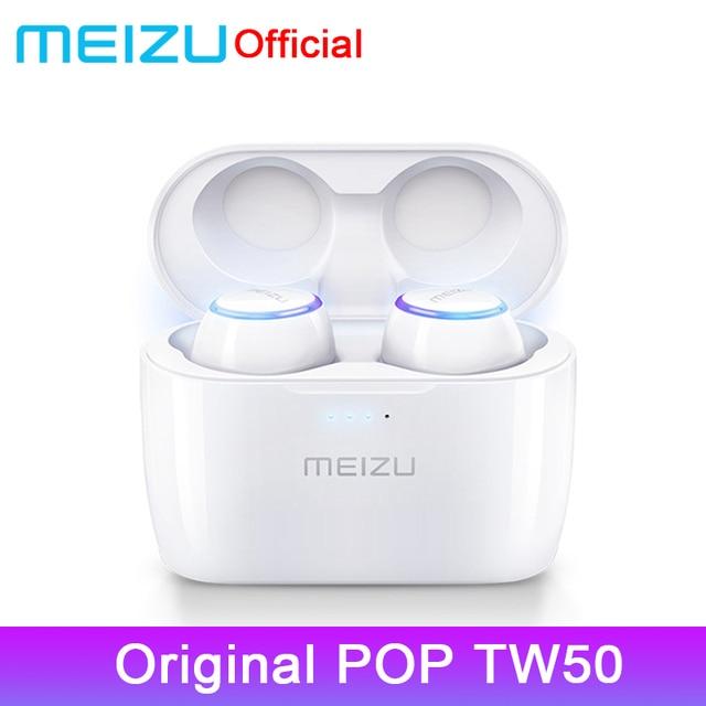 Original Meizu POP TW50 Dual Wireless Earphones Bluetooth Earphone Sports In-Ear Earbuds Waterproof Headset For 16th 16x Phone