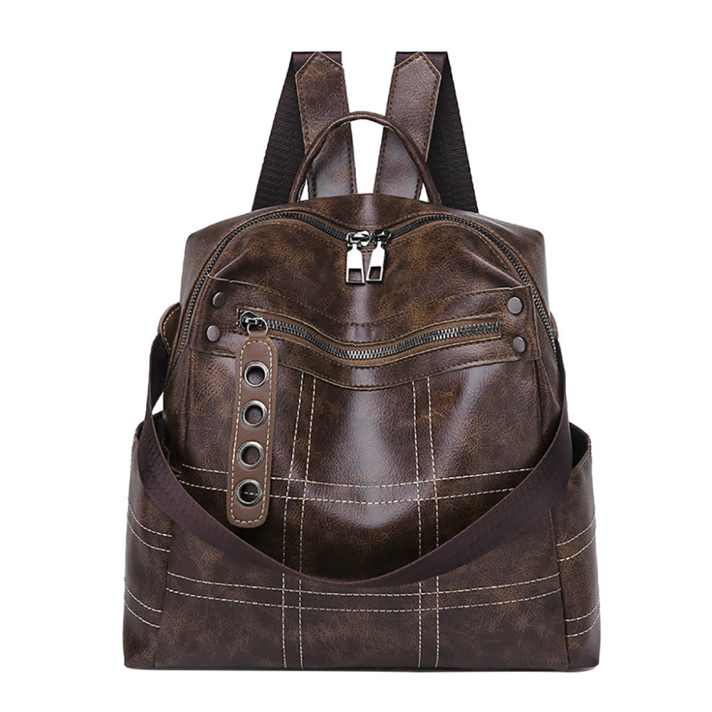 a8ce89852f5 Aelicy Women Packet PU Hand Bag Zipper Women Retro Simple Fashion  Waterproof Student Bags Backpack school bags for women