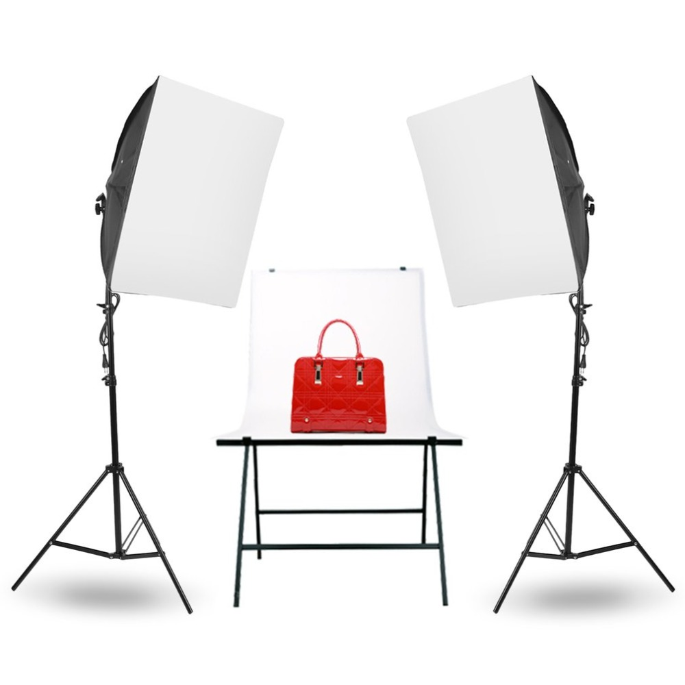 Photo Studio Light Set Photo Softbox Photography Studio Light Portable Continuous Lighting Kit Softbox Lighting Kit 50x70CM nanguang ng t4730 portable photo lighting case photo studio lighting led foldio box 47cm 47cm 10cm photography studio kit cd50