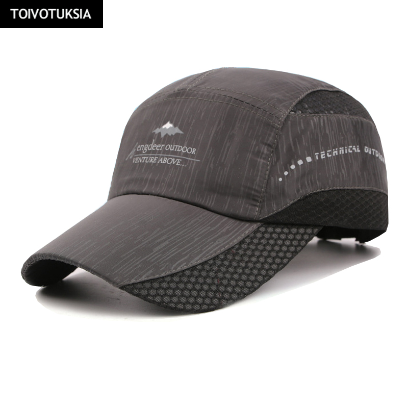 Running Caps New Summer Cap Quick Dry Hat Sport Fitness Sun Caps Breathable Ultra Thin Snapback newest kpop savage baseball cap embroidery men dad hat cotton bone women snapback caps hip hop sun fashion camouflage caps