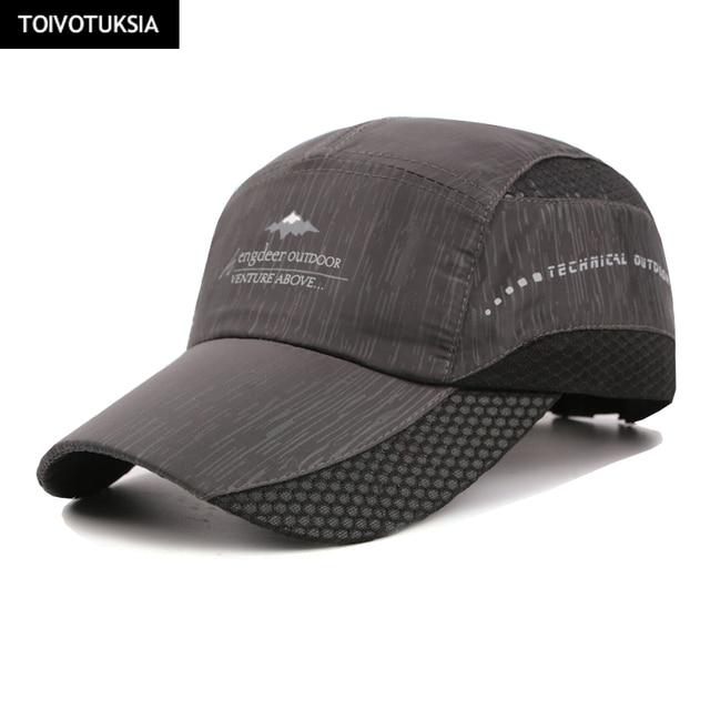 Running Caps New Summer Cap Quick Dry Hat Sport Fitness Sun Caps Breathable  Ultra Thin Snapback 1fd01d4df48