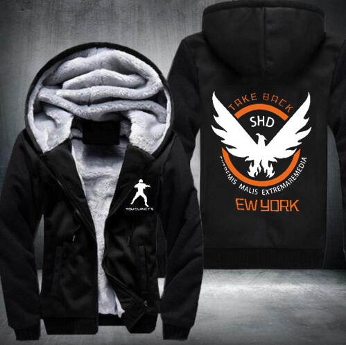 New Winter Jackets and Coats Gundam hoodie Game Hooded Thick Zipper Men cardigan Sweatshirts USA Size fast ship 5-10 days arrive