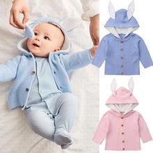 Модная зимняя одежда для малышей; теплые пальто для новорожденных; одежда для маленьких мальчиков и девочек; вязаный свитер; пальто; верхняя одежда