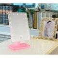 20 LED Light touch screen Mirror Make Up Cosméticos Vaidade Portátil Dobrável Ajustável Mesa Bancada