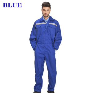 Image 2 - Mens White Orange Blue Reflective Workwear Work coverall strap jumps High Visibility Work Clothing Overalls Free Post