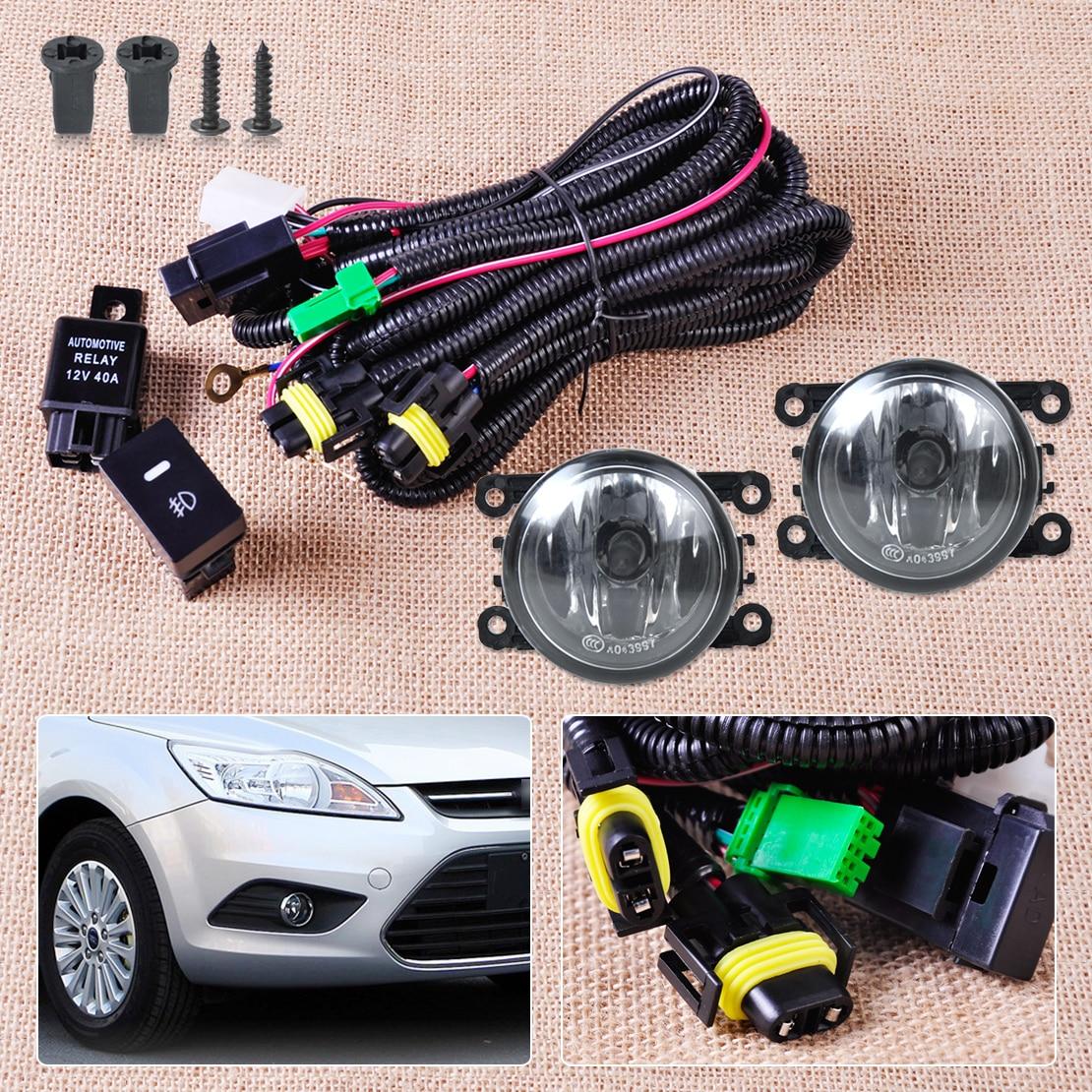 Wiring Harness Sockets Switch 2 H11 Fog font b Lights b font Lamp 4F9Z 15200 AA