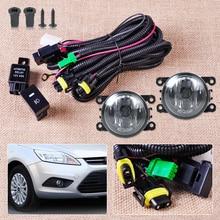 Arnés de cableado de Sockets + Interruptor + 2 H11 Faros de Niebla Lámpara 4F9Z-15200-AA para Ford Focus Mustang Honda CR-V Acura TSX Nissan Sentra