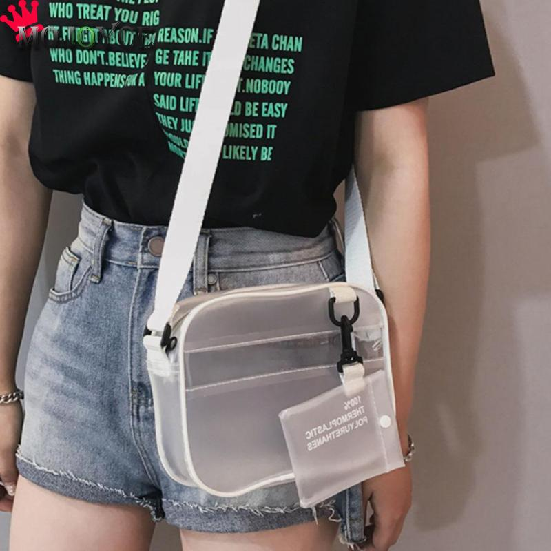 2019 New Women PVC Jelly Transparent Crossbody Bag Fashion Mini Black White Shoulder Bag Casual Girl Zipper Messenger Handbag2019 New Women PVC Jelly Transparent Crossbody Bag Fashion Mini Black White Shoulder Bag Casual Girl Zipper Messenger Handbag