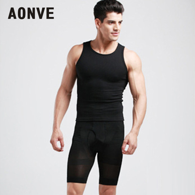 Aonve Men High Waist Strap Panties Tummy Firm Shaping Stretchy Shorts Hombre Waist Trainer Shapewear Belly Trimmer Underwear 2